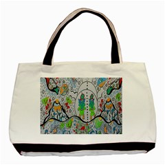 Supersonic Volcano Snowman Basic Tote Bag (two Sides) by chellerayartisans