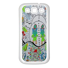 Supersonic Volcano Snowman Samsung Galaxy S3 Back Case (white) by chellerayartisans