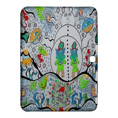Supersonic Volcano Snowman Samsung Galaxy Tab 4 (10 1 ) Hardshell Case  by chellerayartisans