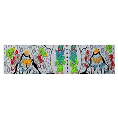 Supersonic Volcano Snowman Satin Scarf (oblong) by chellerayartisans
