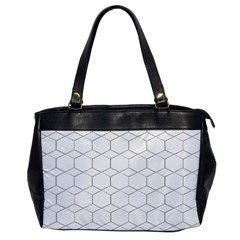 Honeycomb Pattern Black And White Oversize Office Handbag