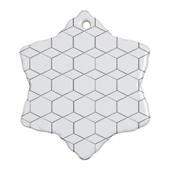 Honeycomb Pattern Black And White Snowflake Ornament (two Sides)