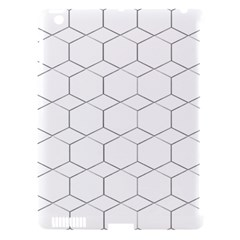 Honeycomb Pattern Black And White Apple Ipad 3/4 Hardshell Case (compatible With Smart Cover) by picsaspassion