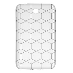 Honeycomb Pattern Black And White Samsung Galaxy Tab 3 (7 ) P3200 Hardshell Case