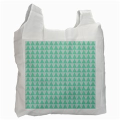Mint Triangle Shape Pattern Recycle Bag (two Side)