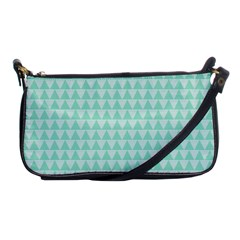Mint Triangle Shape Pattern Shoulder Clutch Bag