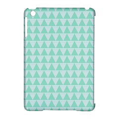 Mint Triangle Shape Pattern Apple Ipad Mini Hardshell Case (compatible With Smart Cover)
