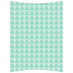 Mint Triangle Shape Pattern Back Support Cushion