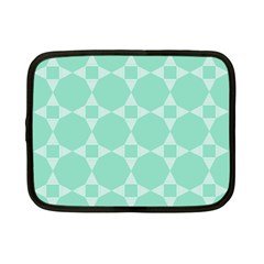 Mint Star Pattern Netbook Case (small) by picsaspassion