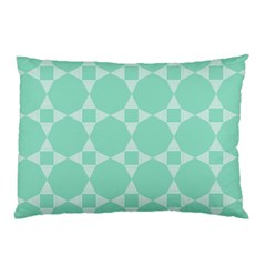 Mint Star Pattern Pillow Case (two Sides)