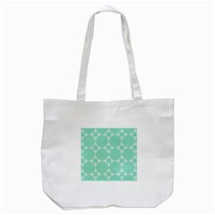 Mint Star Pattern Tote Bag (white)