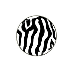 Zebra Horse Pattern Black And White Hat Clip Ball Marker by picsaspassion