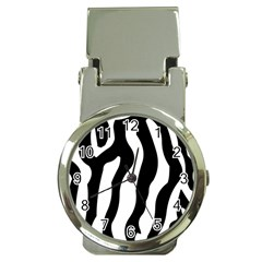 Zebra Horse Pattern Black And White Money Clip Watches