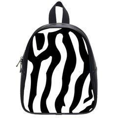 Zebra Horse Pattern Black And White School Bag (small)