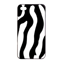 Zebra Horse Pattern Black And White Apple Iphone 4/4s Seamless Case (black)