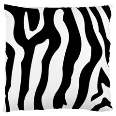 Zebra Horse Pattern Black And White Large Cushion Case (two Sides)
