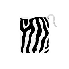 Zebra Horse Pattern Black And White Drawstring Pouch (xs)