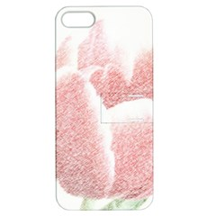 Tulip Red And White Pen Drawing Apple Iphone 5 Hardshell Case With Stand by picsaspassion