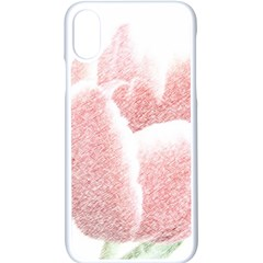 Tulip Red And White Pen Drawing Apple Iphone X Seamless Case (white)