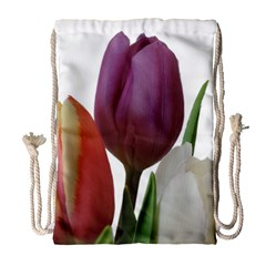 Tulips Bouquet Drawstring Bag (large)