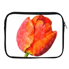Red Tulip, Watercolor Art Apple Ipad 2/3/4 Zipper Cases
