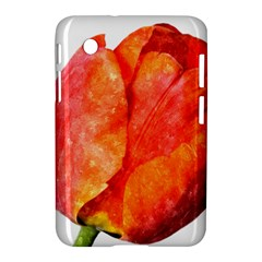 Red Tulip, Watercolor Art Samsung Galaxy Tab 2 (7 ) P3100 Hardshell Case  by picsaspassion