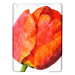 Red Tulip, Watercolor Art Ipad Air Hardshell Cases by picsaspassion