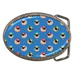 Pugs In Circles With Stars Belt Buckles by PugnaciousGifts