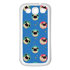 Pugs In Circles With Stars Samsung Galaxy S3 Back Case (white)