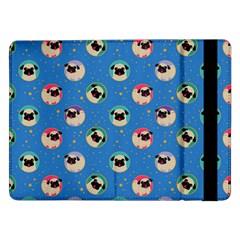 Pugs In Circles With Stars Samsung Galaxy Tab Pro 12 2  Flip Case
