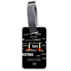 Candles Christmas Advent Light Luggage Tags (one Side)  by Wegoenart
