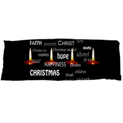 Candles Christmas Advent Light Body Pillow Case Dakimakura (two Sides)