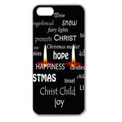 Candles Christmas Advent Light Apple Seamless Iphone 5 Case (clear) by Wegoenart