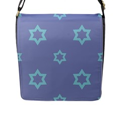 Star Christmas Night Seamlessly Flap Closure Messenger Bag (l)