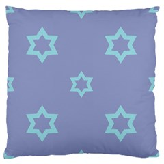 Star Christmas Night Seamlessly Large Flano Cushion Case (one Side)