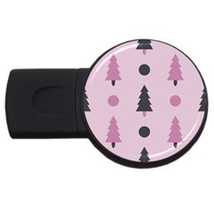 Christmas Trees Tree Fir Den Usb Flash Drive Round (4 Gb)