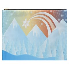 Winter Landscape Star Mountains Cosmetic Bag (xxxl)