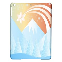 Winter Landscape Star Mountains Ipad Air Hardshell Cases