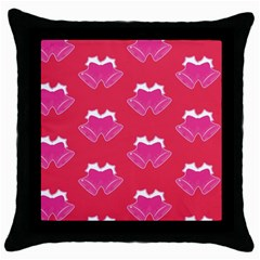 Christmas Red Pattern Reasons Throw Pillow Case (black)