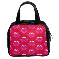 Christmas Red Pattern Reasons Classic Handbag (two Sides)