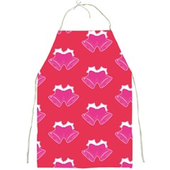 Christmas Red Pattern Reasons Full Print Aprons