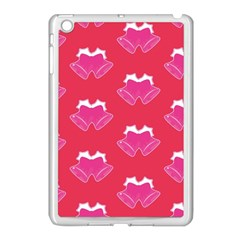 Christmas Red Pattern Reasons Apple Ipad Mini Case (white)