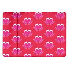 Christmas Red Pattern Reasons Samsung Galaxy Tab 10 1  P7500 Flip Case