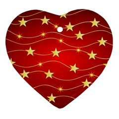 Background Christmas Decoration Ornament (heart)