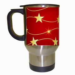 Background Christmas Decoration Travel Mugs (white)