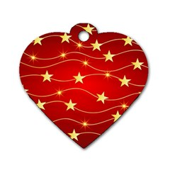 Background Christmas Decoration Dog Tag Heart (two Sides)