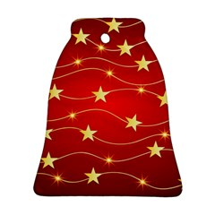 Background Christmas Decoration Bell Ornament (two Sides)