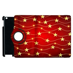 Background Christmas Decoration Apple Ipad 3/4 Flip 360 Case