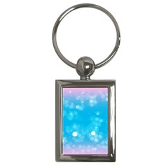 Background Abstract Christmas Snow Key Chains (rectangle)