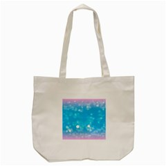 Background Abstract Christmas Snow Tote Bag (cream)